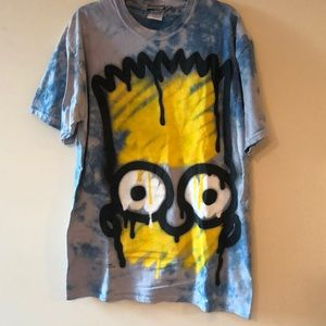 Bart Simpson spray print and tye dye